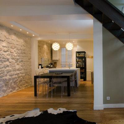 Deux appartements superposés réunis pour la création d'un duplex / Paris IX - Architecte dplg paris